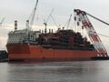 CORAL SUL FLNG - Last Production Module of the Floating Platform Assembled